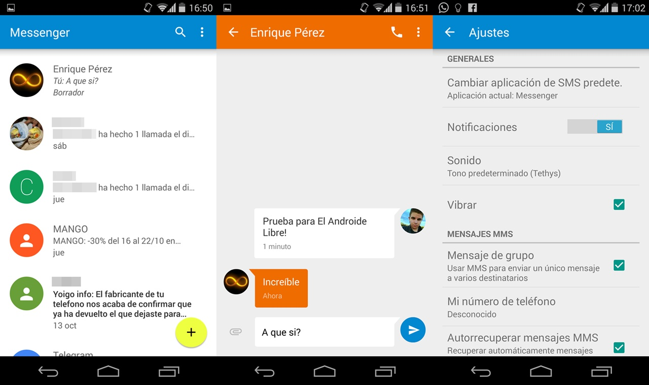 Descargar Messenger para chatear en Android